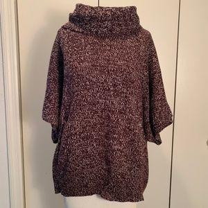 New York & Company Purple Cowl Neck Sweater